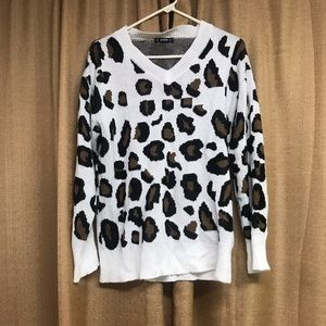 Brand new Animal print knit sweater